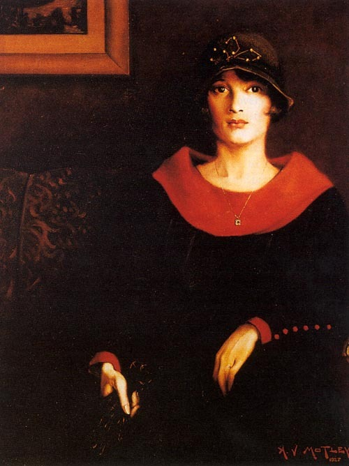 lascasartoris:  Octoroon Girl by Archibald Motley Jr (1925)  Also seen on the cover of Nella Larsen's Passing