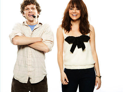 Jesse Eisenberg and Emma Stone