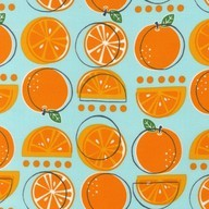 Oranges in Aqua by M