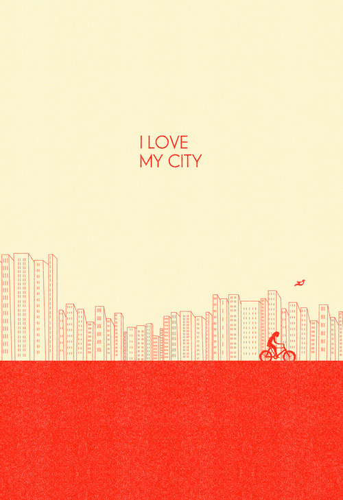 lunaryue:  I love my City Art Print | Society6