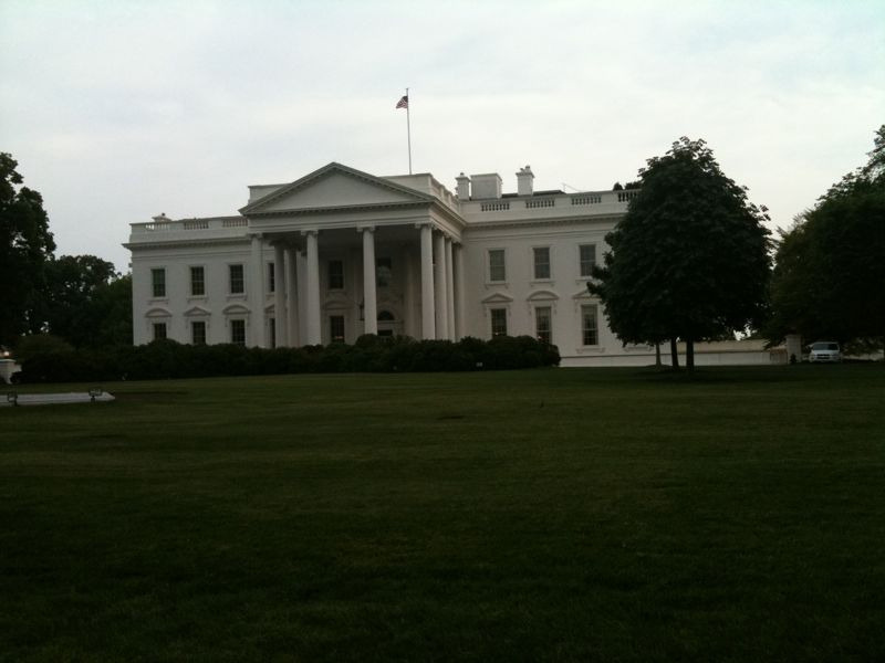 white house 5.2.11-one day after the death of Osama bin Laden