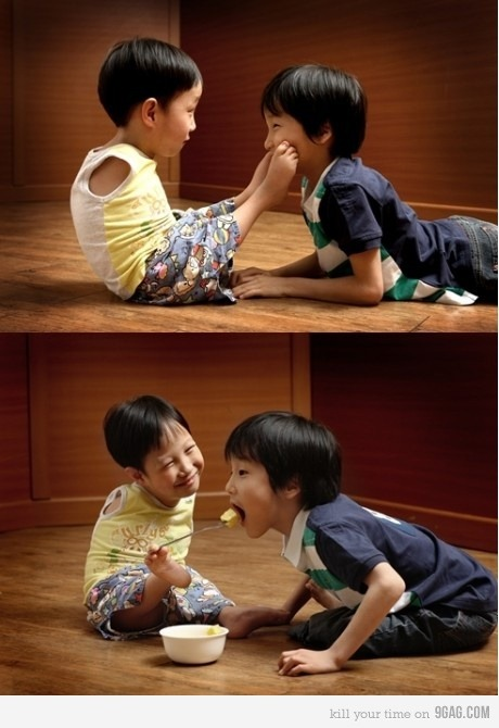 9gag:  Such a sweet boy true love