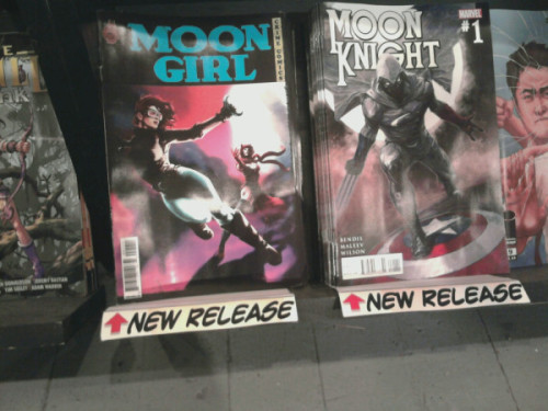 Moon Girl is on shelves this at your local comic shops today. Please purchase this gorgeous lil book drawn by Rahzzah and based on golden age characters created by Gardner Fox. Support creator owned comics.