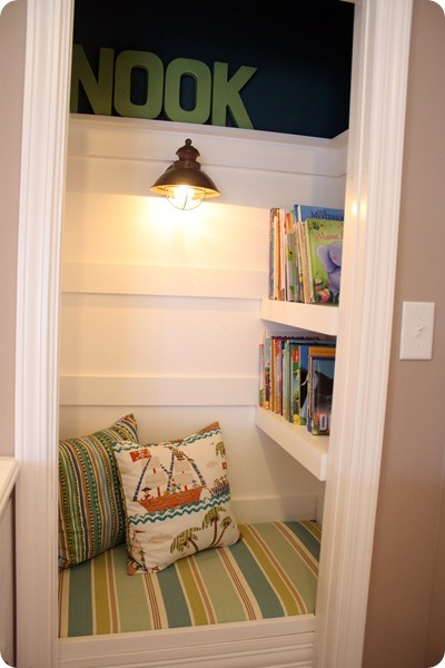 (via Thrifty Decor Chick: Closet turned book nook)