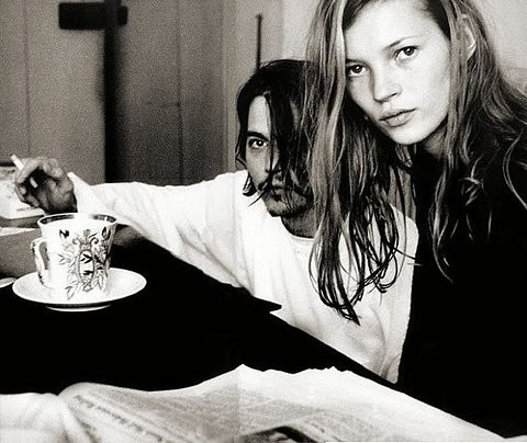 Kate Moss and Johnny Depp by François-Marie Banier in 1994