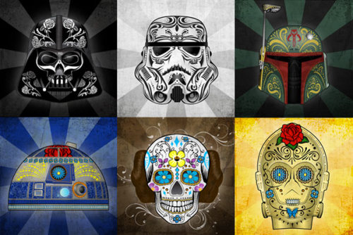 totalfilm:  Star Wars Day Of The Dead art by John Karpinsky
