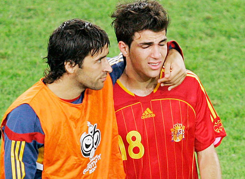 Cesc crying.. World Cup 2006 - France / Spain