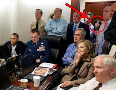 We solved the mystery of the second woman in the situation room! Sort of. Like the caption released by the White House says, she's Audrey Tomason, Director for Counterterrorism. She's a Tufts University and Harvard Kennedy School grad, about 34 years old (unconfirmed), and she works with the National Security Council, a White House agency closely involved with the intelligence that led to bin Laden. Other than that, the Internet doesn't seem to know much more, and the government is staying pretty mum. When we searched yesterday, there was no Wikipedia page for her. Now there is, but it's incredibly sparse.