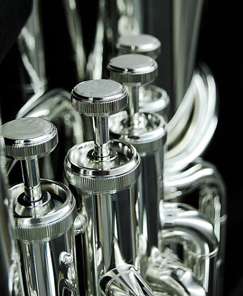 woodwindofmassdestruction:  euphonium by july_hymn on Flickr.  Silver? 4 valves? Marry me.