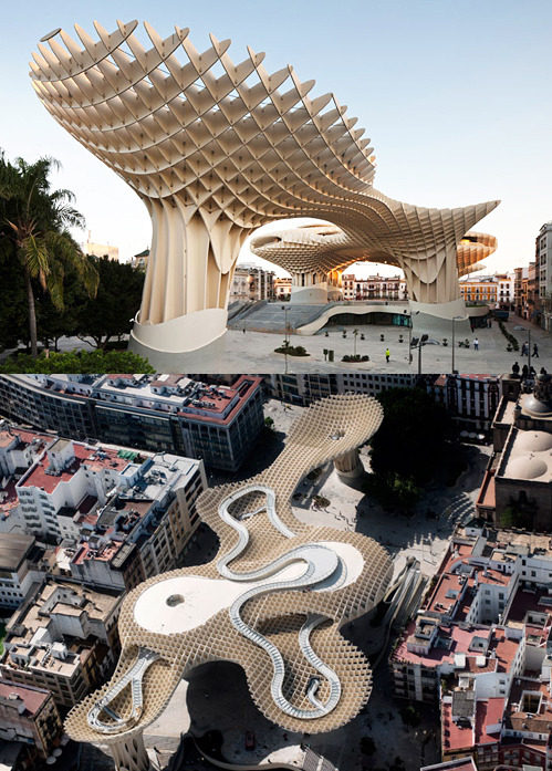 architizer:  nevver:  Metropol Parasol Completed, Seville  Hurrah, Juergen! Full project details here.