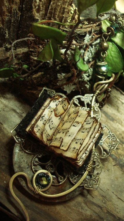 "luthienthye:  ~ wearable books ~ "" you alone can make my song take flight help me make the Music of the Night .."" Music of the Night by Luthien Thye"