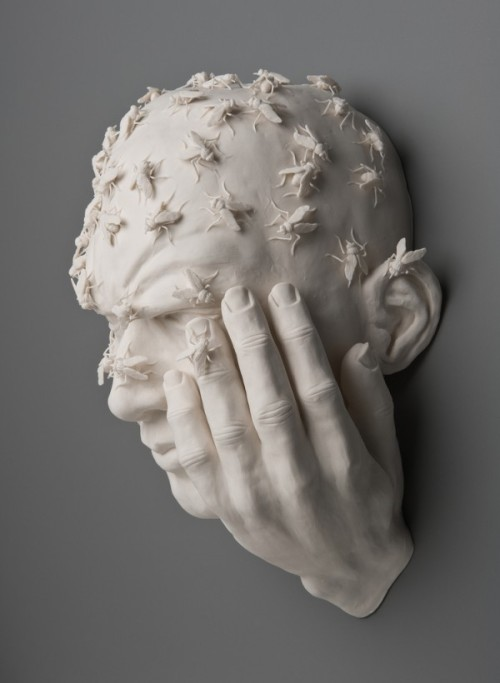 Buzz, hand built porcelain, acrylic gel by Kate MacDowell