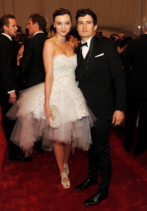 Miranda Kerr and Orlando Bloom Alexander McQueen: Savage Beauty Met Gala - May 2, 2011