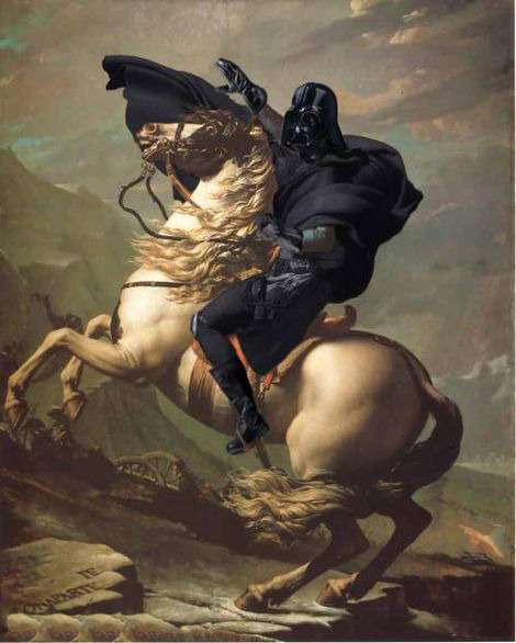 cavetocanvas:  shalottconweb:  Parody of David's Napoleon   In honor of May the 4th.