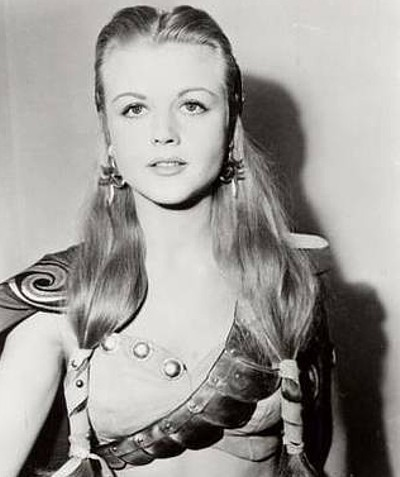 Angela Lansbury, when she was young. LOOK AT HER. LOOK! She looks like a model from our era.