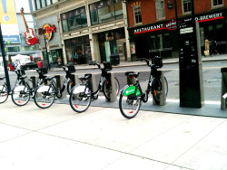 BIXI launched in Toronto yesterday  https://toronto.bixi.com/