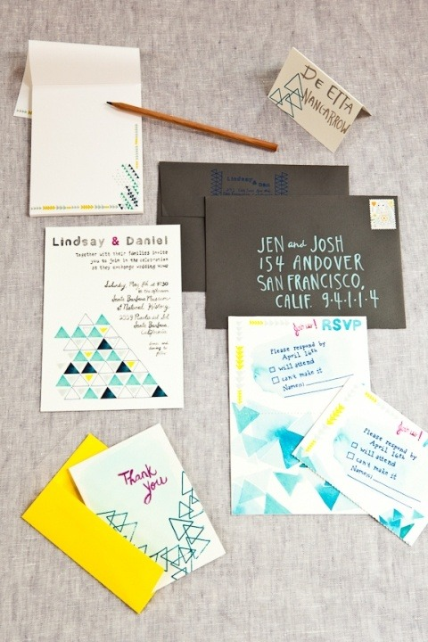 marvelousmatrimony:  ADORABLE Wedding Invites! (via Wedfully)