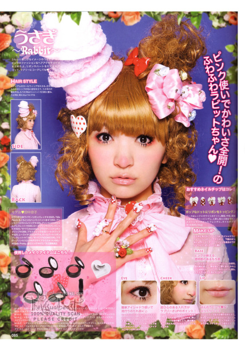hipsterloli:  moon-mallows:  Alice Deco a la Mode Spring 2010 (scans from thevisual-beast)  DAT HAT.