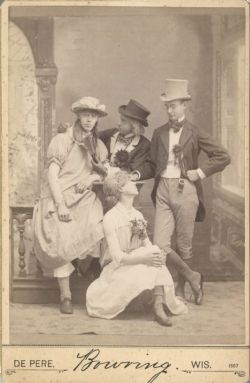 "ca. 1887, ""Fancy Dress Party"", Thomas D. Bowring  via the Wisconsin Historical Society, Classified File"