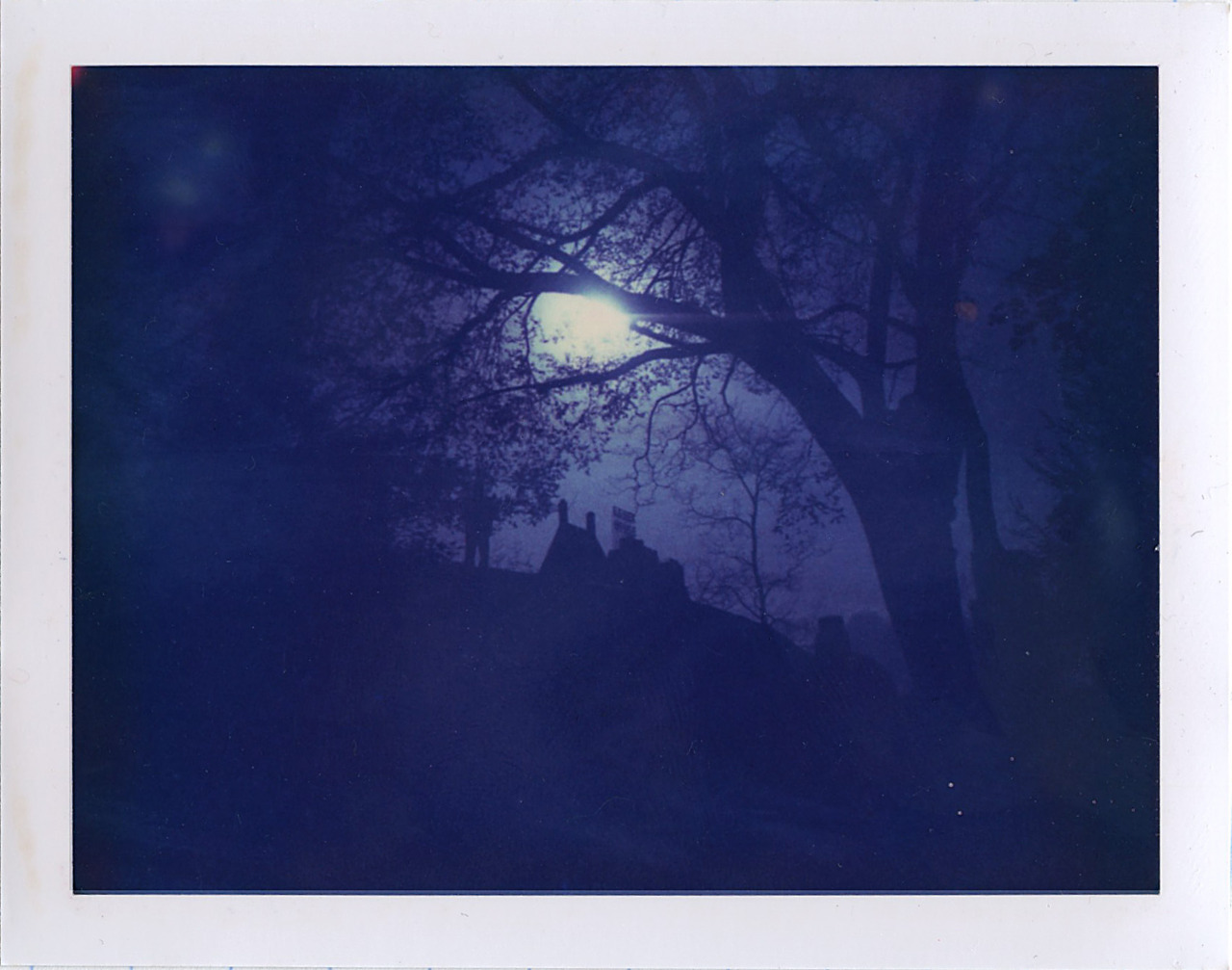 essex house  ..from central park.  polaroid 669.