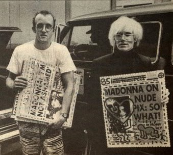 Keith Haring and Andy Warhol's wedding present to Madonna and Sean Penn.