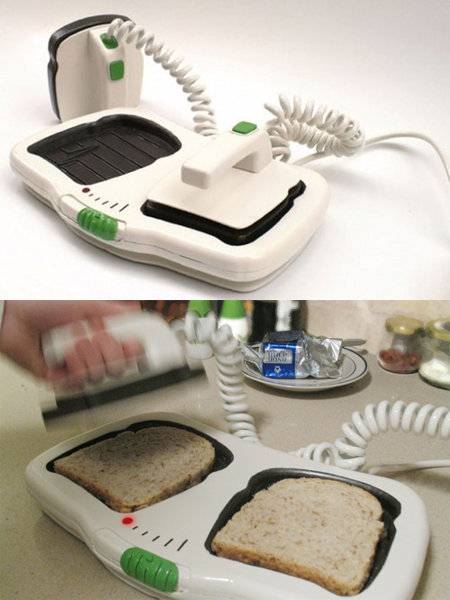 "The Defibrillator Toaster My mom would be so annoyed… every morning I would run into the kitchen screaming ""WE'RE LOSING THEM!!! BEEP BEEP BEEPBEEPBEEP!"" ""DON'T YOU DIE ON ME, DAMNIT!!!  NURSE, WE NEED 12 CC'S OF CREAM CHEESE, STAT!!!"" He's bread, Jim. Time of deliciousness: 7:15 A.M If we don't restart his heart , he's toast!  JESUS CRUST. JAM IT! ""Daddy's in a butter place now, kids."""