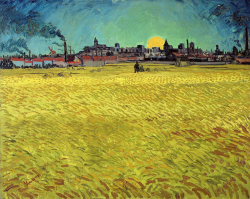 danielnolan:  Summer Evening, Wheatfield With Setting Sun - Vincent van Gogh (1888)