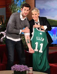 John Krasinski + Celtics + Ellen = you can get it.