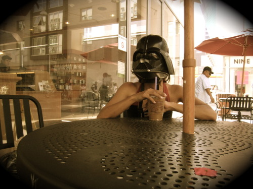 May 4th, 2011 at 5:37pm:  It's hotter than Mustafar out here!  Time for an iced soy latte break.