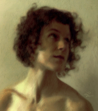 vanevanfuller:  Study Of a Woman's Head The woman is Muriel, who for a while was my favorite Tumblr model. For personal reasons, Muriel deleted her blog and disappeared a few months ago; but she was gracious enough to allow me to download her photos beforehand, so I could paint a few more pictures. http://www.zazzle.com/fullerart http://www.vanevanfuller.com