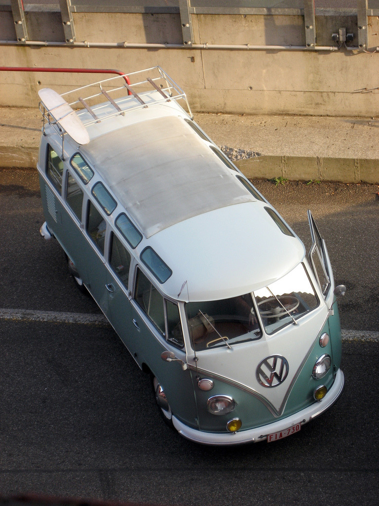 Everything AND the kitchen sink by Count Rushmore Volkswagen Type 2 T1 Camper Van at the Zolder Circuit in Belgium