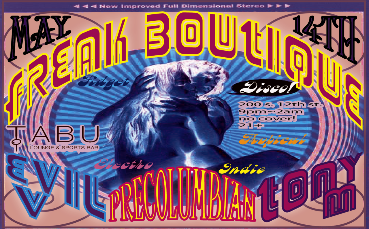 .. freak boutique .. evil v precolumbian  tony m