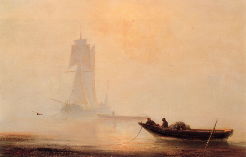"Ivan Constantinovich Aivazovsky (1817-1900)Fishing Boats In A HarborOil on panel185450.8 x 31.8 cm(20"" x 12.52"")Private collection"
