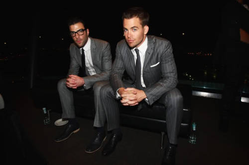 HOTTIES: Zachary Quinto and Chris Pine