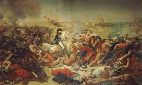 The Battle of Aboukir- Napolean's last victory in his Egyptian campaign. (1799) Painted by Antoine Jean-Gros in 1806