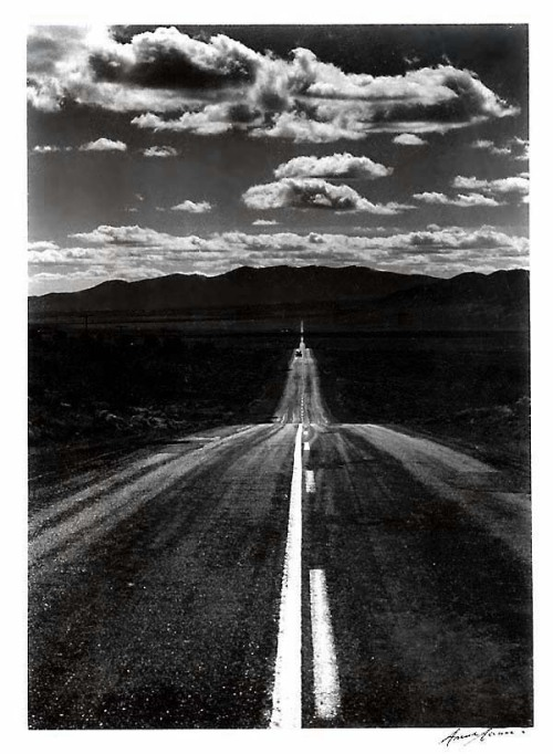 Ansel Adams Road Nevada Desert, 1960