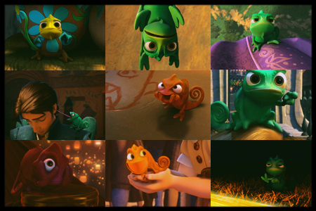 "racheltastic:  day eleven:: favorite animal sidekick pascal from ""tangled""  PASCAL! <3"