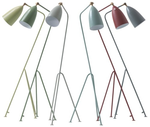 Chelsea Textiles Gräshoppa! I love these tripod floor lamps, and excellent news: no longer are they made-to-order only.