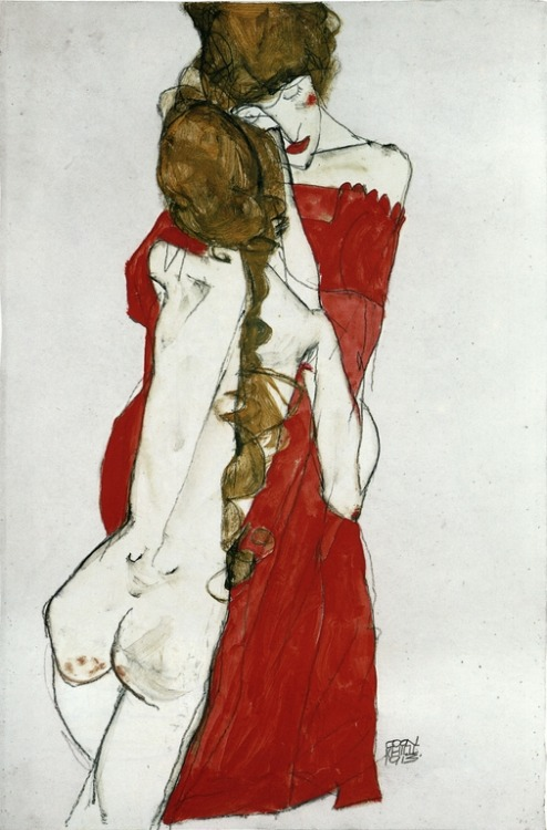 Egon Schiele (Austrian, 1890–1918): Mother and Daughter, 1913. (via:fuckyeah-arthistory)