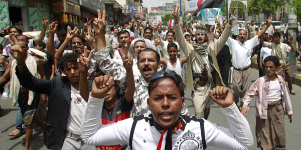 "Stifling Yemen's Revolution:  After three months of protests and street battles in cities throughout  Yemen, opposition leaders announced on Monday, April 25, that they were  prepared to sign a negotiated settlement with the regime. The agreement,  brokered by the Gulf Cooperation Council (GCC), is supposed to usher in  a transitional government that would be a mutually agreeable compromise  between the current government of President Ali Abdullah Saleh and the  opposition movement, which includes a variety of marginalized political  groups. Reports of the settlement eagerly declared that the ""political crisis"" in Yemen was near its end. It's not over. Not even close.  Read the rest of the story at The Atlantic."