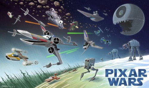 """Pixar Wars"" mash-up by Andrew Chesworth."