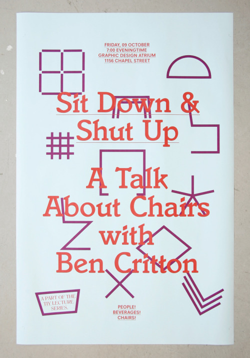 "Lovely poster by Ben Critton. Not quite sure what it is that makes this ""work"" for me, but it does.  It's cluttered, but somehow balanced, and the colors are great. (via @pieratt)"