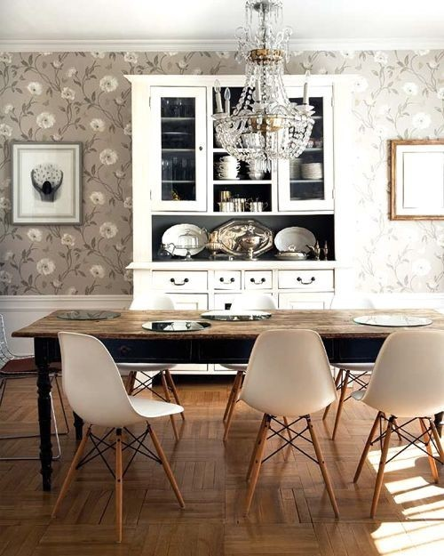 A Rustic, Chic, Glam, Modern dining room all wrapped in one!