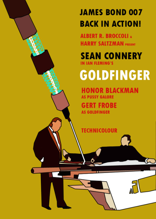 russellfordmovies:  Goldfinger movie poster designed by Russell Ford Movies