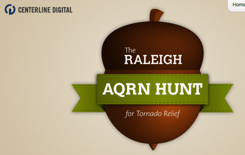 AQRN hunt for NC Tornado Relief efforts.
