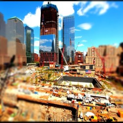 Blue skies over Ground Zero. http://instagr.am/p/D5dfu/ (Taken by @JBaiata)