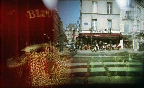 Rue Saint Antoine / Rue Beautreillis Overlap | Shot with a Woca and Kodak Portra 160