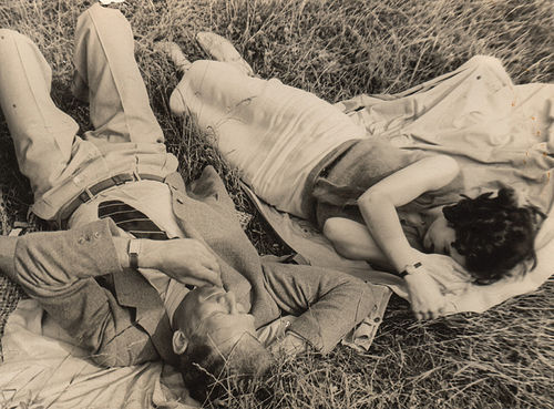 in the grass, 1930s (by Trevira)