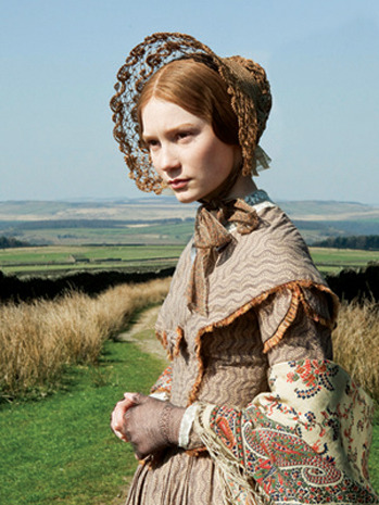 Nice Collection of Images from the amazing costume-work in this year's Jane Eyre remake at Hollywood Reporter   Nice shot of the wedding costumes via Hollywood Costumes and Props  as worn: