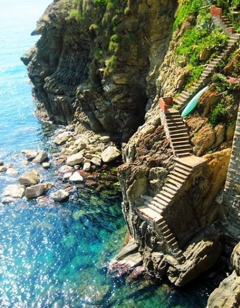 sunsurfer:  Steps To The Sea, Amalfi Coast, Italy